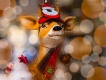 Decoración de la Navidad del reno Imágenes de archivo libres de regalías