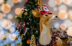 Decoración de la Navidad del reno Fotos de archivo