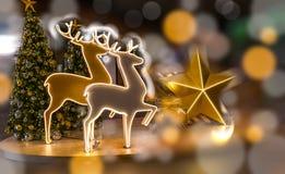 Decoración de la Navidad del reno Fotos de archivo libres de regalías