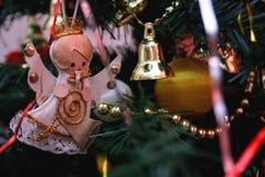 Decoración de la Navidad del vintage Fotografía de archivo
