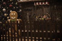Decoración de la Navidad del vintage Imágenes de archivo libres de regalías
