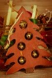 Decoración de la Navidad del vintage Fotografía de archivo libre de regalías
