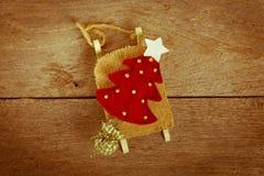Decoración de la Navidad del vintage Imagen de archivo
