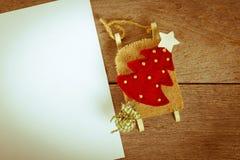 Decoración de la Navidad del vintage Fotos de archivo libres de regalías
