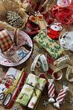 Decoración de la Navidad del vintage Imagen de archivo libre de regalías