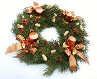 Decoración de la Navidad del wih de la guirnalda del advenimiento Fotografía de archivo libre de regalías