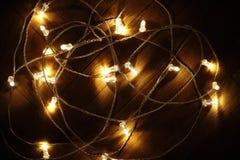 Decoración de la Navidad - diseño de las bombillas que brilla intensamente Lig de la Navidad Imagen de archivo libre de regalías