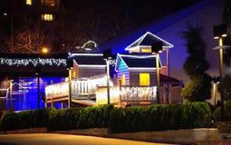 Decoración de la Navidad en azul Fotos de archivo libres de regalías