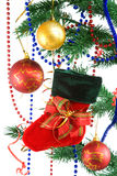 Decoración de la Navidad en blanco. Imagenes de archivo
