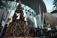 Decoración de la Navidad en el camino de la huerta de Singapur Fotografía de archivo