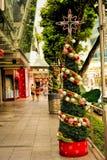 Decoración de la Navidad en el camino de la huerta de Singapur Imágenes de archivo libres de regalías