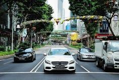 Decoración de la Navidad en el camino de la huerta de Singapur Foto de archivo libre de regalías