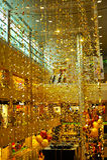 Decoración de la Navidad en el camino de la huerta de Singapur Foto de archivo