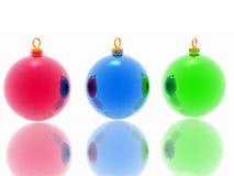 Decoración de la Navidad en el fondo blanco ilustración del vector
