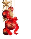 Decoración de la Navidad en el fondo blanco imágenes de archivo libres de regalías