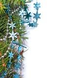 Decoración de la Navidad en el fondo blanco Foto de archivo