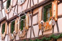 Decoración de la Navidad en Estrasburgo Fotografía de archivo