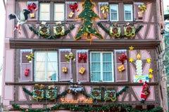 Decoración de la Navidad en Estrasburgo Foto de archivo libre de regalías