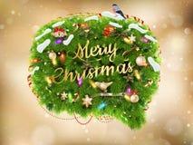 Decoración de la Navidad en extracto EPS 10 Foto de archivo libre de regalías