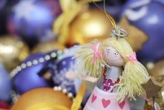 Decoración de la Navidad en fondo defocused Fotos de archivo