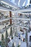Decoración de la Navidad en la alameda del jardín fotografía de archivo libre de regalías