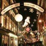 Decoración de la Navidad en Londres Imagenes de archivo
