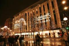 Decoración de la Navidad en Londres Fotos de archivo