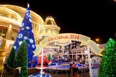 Decoración de la Navidad en los grandes almacenes de Promanade Fotografía de archivo libre de regalías