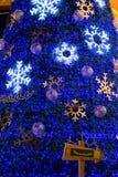 Decoración de la Navidad en los grandes almacenes de Promanade Foto de archivo libre de regalías