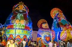 Decoración de la Navidad en Medellin Imagenes de archivo