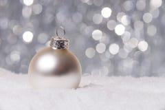 Decoración de la Navidad en nieve Imagen de archivo