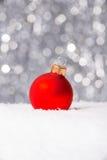 Decoración de la Navidad en nieve Imagen de archivo libre de regalías