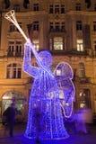 Decoración de la Navidad en Praga fotografía de archivo libre de regalías