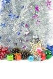 Decoración de la Navidad en un fondo blanco Imagen de archivo