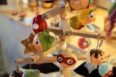 Decoración de la Navidad en un mercado en Bulle fotografía de archivo