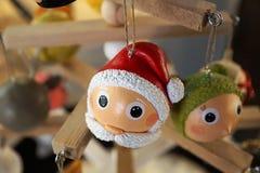 Decoración de la Navidad en un mercado en Bulle foto de archivo libre de regalías