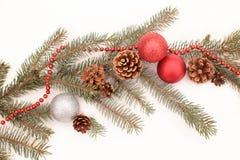 Decoración de la Navidad en una nieve Fotografía de archivo
