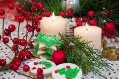 Decoración de la Navidad en una tabla Imagen de archivo libre de regalías