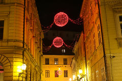 Decoración de la Navidad en Zagreb Fotografía de archivo libre de regalías