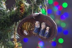 Decoración de la Navidad, escena de la natividad imagen de archivo