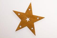Decoración de la Navidad Estrella de madera Fotos de archivo