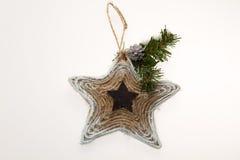 Decoración de la Navidad Estrella para el árbol del Año Nuevo Imagen de archivo libre de regalías