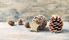 Decoración de la Navidad Estrella de la Navidad Tiempo de la Navidad fotos de archivo