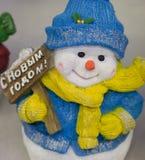 Decoración de la Navidad, Feliz Año Nuevo del muñeco de nieve Imagen de archivo libre de regalías