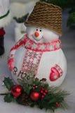 Decoración de la Navidad, Feliz Año Nuevo del muñeco de nieve Imágenes de archivo libres de regalías