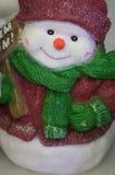 Decoración de la Navidad, Feliz Año Nuevo del muñeco de nieve Imagen de archivo