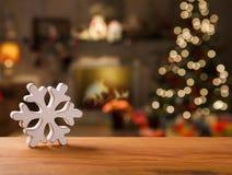 Decoración de la Navidad Fondo borroso de la Navidad foto de archivo