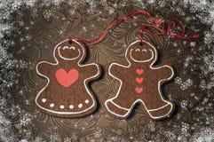 Decoración de la Navidad - galletas Año Nuevo 2015 Fotos de archivo libres de regalías