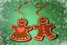 Decoración de la Navidad - galletas Año Nuevo 2015 Fotografía de archivo libre de regalías