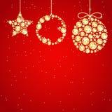 Decoración de la Navidad de gemas preciosas chispeantes Foto de archivo libre de regalías